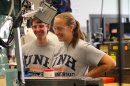 UNH grad tim Roemer '13 and KUA's Girls in Engineering