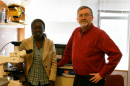 Nathalie Diagne of Senegal  and Louis S. Tisa, a researcher with the NH Agricultural Experiment Station