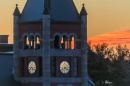 Thompson Hall at sunset