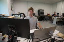 Matt Griswold '18 at the UNH Makerspace