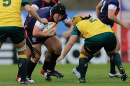 Jamie Burke playing Rugby