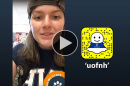 Abbey McIntosh '19 takes over the UNH Snapchat account