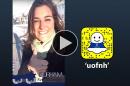 Abby Koczera '17 takes over UNH's Snapchat