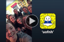 UNH students on an alternative break challenge take over UNH's Snapchat