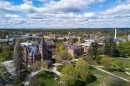 an aerial view of UNH's Durham campus