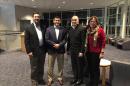 Mike Ferrara, Robert Dorf, Robert Aurilio and Gene Harkless pose standing for a photo
