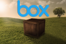 wooden box in the middle of a field