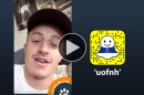 Brian Thibodeau '17 takes over the UNH Snapchat account