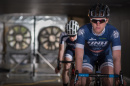UNH cyclists in the wind tunnel