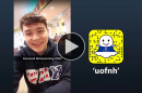Drew Halpin '19 takes over the UofNH Snapchat account