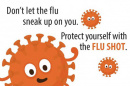 Don't let the flu sneak up on you graphic