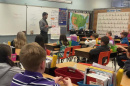 students in an elementary school classroom