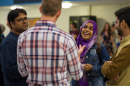 UNH students at the International Student Reception