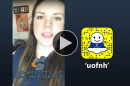 Isabelle Hegland '19 takes over UNH's Snapchat