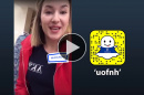 Kate Aiken takes over UNH's Snapchat account