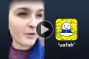 Katherine Lawson '18 takes over UNH's Snapchat account