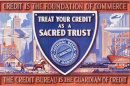 From Credit World, 1932: The official seal of the National Retail Credit Association