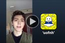 """UNH student Lubomir Rzepka '21 takes over the """"uofnh"""" Snapchat account"""