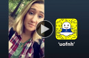 UNH Cooperative Extension social media intern Mhairi Baird '18 takes over the UNH Snapchat