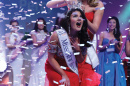 UNH alumna Lauren Percy '16 being crowned Miss New Hampshire