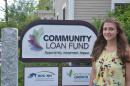 UNH student Rachel Vaz '18 at Community Loan Fund internship