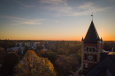 UNH's Durham campus at sunset