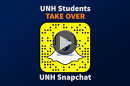 UNH students take over UNH Snapchat graphic