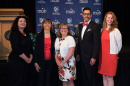 UNH 2017 Presidential Award of Excellence recipients Carla Cannizzaro, Amanda Stone, Marlene Brooks and Avary Thorne, pictured with Chris Clement, vice president for finance and administration