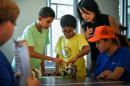 kids at table at UNH