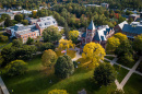 aerial view of UNH's Durham campus