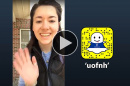 Taylor Lindsay '19 takes over the UofNH Snapchat account