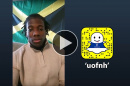 Trevon Bryant '18 takes over the UNH Snapchat account