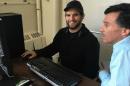 TSAS student Brian Hunter and advisor Tim Barretto