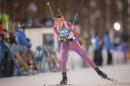 Clare Egan skiing