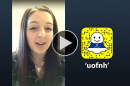 Alex Burroughs '18 takes over UNH's Snapchat account
