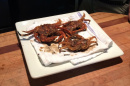 Cooked crabs on a plate