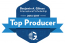 The Gilman Scholars Top Producer badge