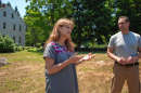 Kathleen Jacobs and David Miller talk about why they bought Grounding Stone Farm, why it is they didn't want the land to be developed, and the organic status of the farm in Contoocook on Friday, July 13, 2018.