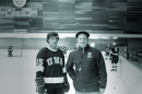 Dick Umile with coach