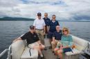 UNH scientists and volunteers on Lake Winnipesaukee