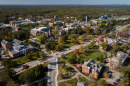 An aerial view of UNH's campus
