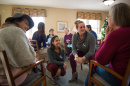 UNH OT graduate students work with residents of Bagdad Wood in Durham