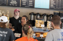 the counter at Saxby's coffee shop