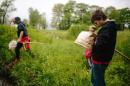 kids learning outside