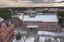 aerial view of UNH's Murkland courtyard