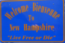 Sign that says Welcome to NH