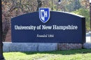 Photo of the University of New Hampshire sign at UNH Durham.