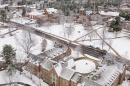 UNH campus in the snow