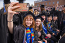Students at UNH's commencement