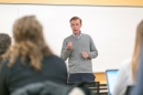 Jake Sullivan teaching a class at the Carsey School of Public Policy.